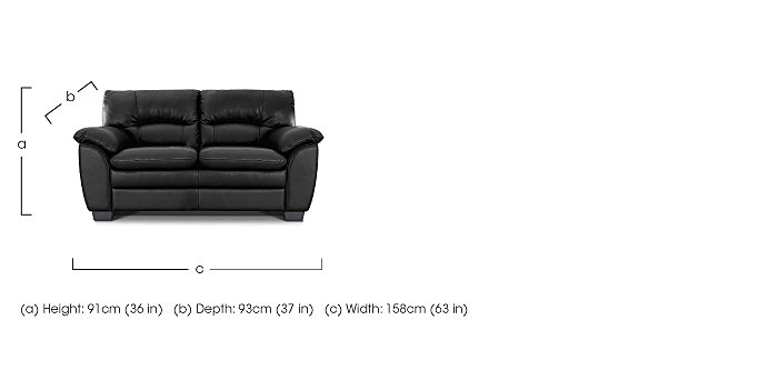 Blaze 2 Seater Leather Sofa in  on Furniture Village