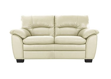 Blaze 2 Seater Leather Sofa in Bv004c Bone on Furniture Village