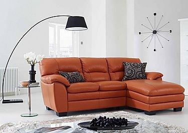 Blaze Leather Corner Chaise in  on Furniture Village