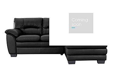 Blaze Leather Corner Chaise in Bv3500 Classic Black on Furniture Village