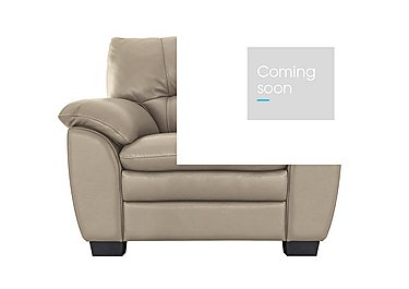 Blaze Leather Armchair in Bv8475 Nude on Furniture Village