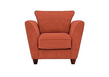 Tangier Fabric Armchair in Cosmo Spice - Dark Feet on Furniture Village