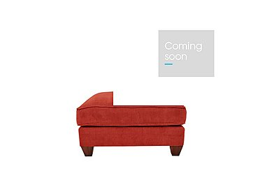 Tangier Fabric Footstool in Cosmo Spice - Dark Feet on Furniture Village