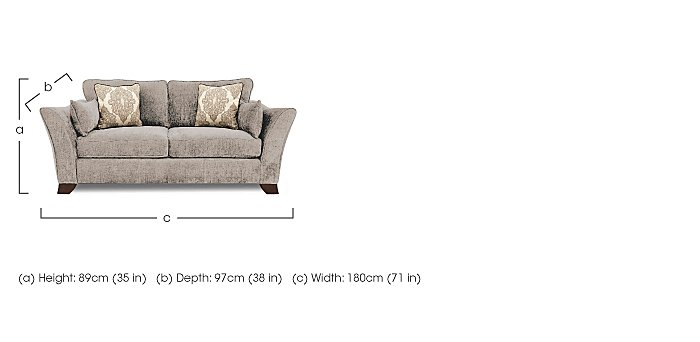 Annalise 2 Seater Fabric Sofa in  on Furniture Village