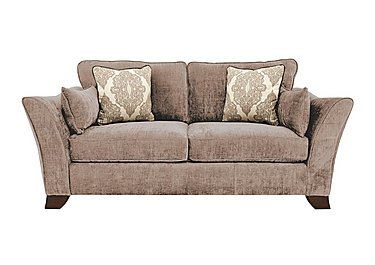 Annalise 2 Seater Fabric Sofa in Sherlock Mink Dark Feet on Furniture Village