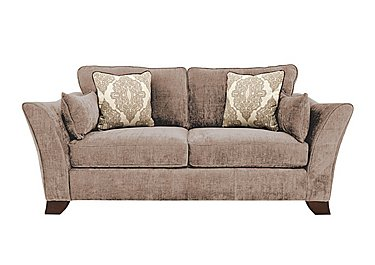 Annalise 3 Seater Fabric Sofa in Sherlock Mink Dark Feet on Furniture Village