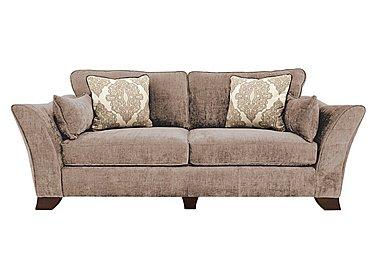 Annalise 4 Seater Fabric Sofa in Sherlock Mink Dark Feet on Furniture Village