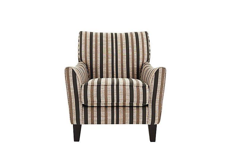 Annalise Fabric Accent Armchair in Liberia Stripe Mink Dk Feet on Furniture Village