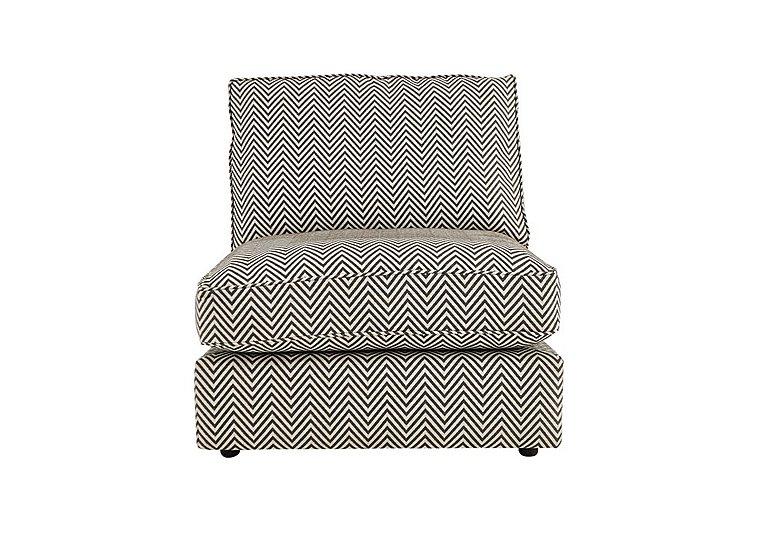 Harlequin Armless Single Fabric Unit in Manhattan Chevron Charcoal on Furniture Village
