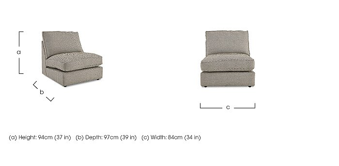 Harlequin Armless Single Fabric Unit in  on Furniture Village