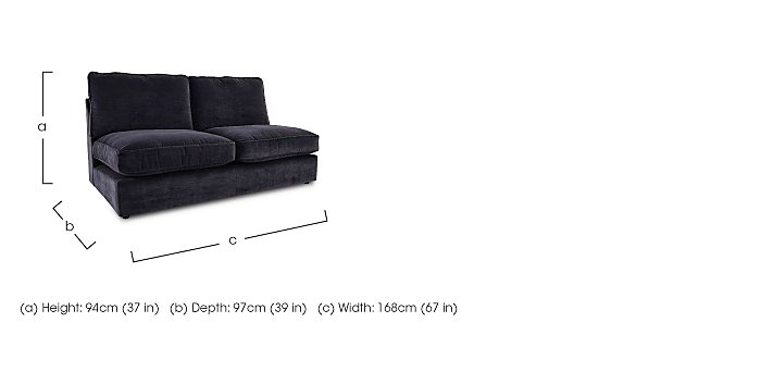 Harlequin Fabric Armless Double Unit in  on Furniture Village