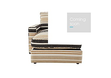 Harlequin Fabric Chaise End Unit in Manhattan Wide Stripe Charcoal on Furniture Village