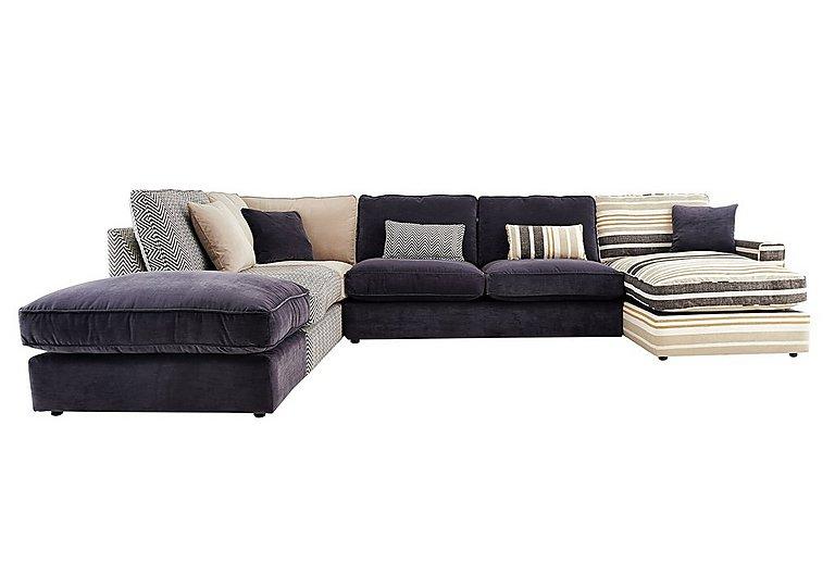 Harlequin Fabric Corner Sofa Furniture Village