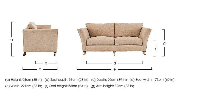 Vantage 3 Seater Fabric Sofa in  on Furniture Village