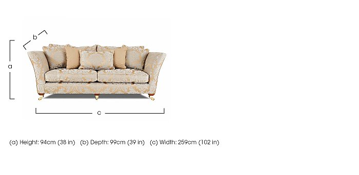 Vantage 4 Seater Fabric Sofa in  on Furniture Village