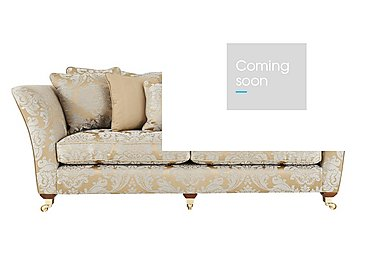 Vantage 4 Seater Fabric Sofa in Boemia Damask Gold- Ant  Brass on Furniture Village