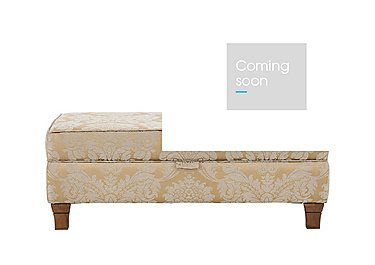 Vantage Fabric Storage Footstool in Boemia Damask Gold - Antique on Furniture Village