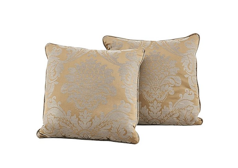 Vantage Pair of Scatter Cushions in Boemia Damaks Gold on Furniture Village