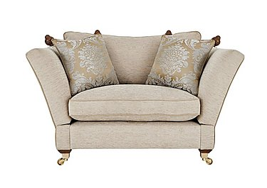 Vantage Knoll Fabric Snuggler Armchair in Claudia Plain Natural-Ant Bras on Furniture Village