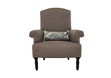 Wellington Fabric Accent Chair in Hellas Grey -Charcoal/Chr Cast on Furniture Village