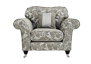 Wellington Fabric Armchair in Carlton Floral Silver-Cha Chr on Furniture Village