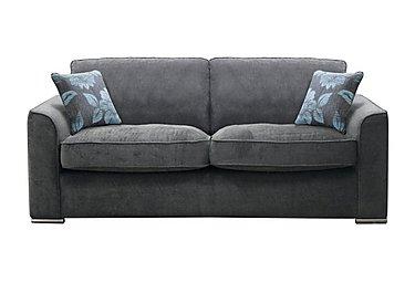 Boardwalk 4 Seater Fabric Sofa in Waffle Steel on Furniture Village