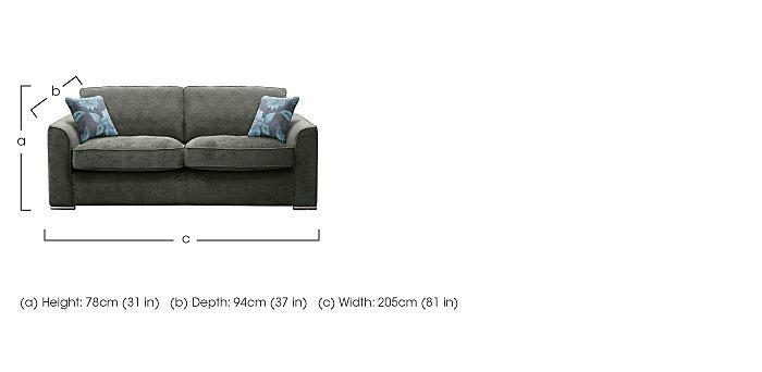 Boardwalk 4 Seater Fabric Sofa in  on Furniture Village