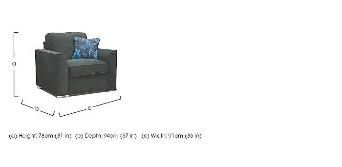 Boardwalk Fabric Armchair in  on Furniture Village