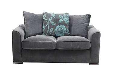 Boardwalk Standard Fabric Sofa Bed in Waffle Steel / Lily Teal on Furniture Village