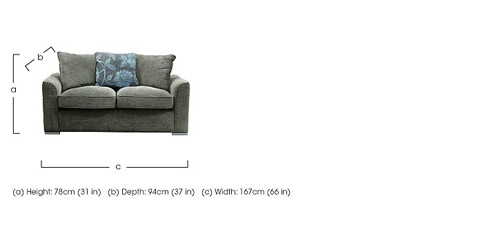 Boardwalk Standard Fabric Sofa Bed in  on Furniture Village