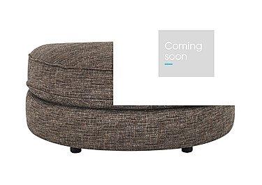 Bailey Fabric D Shaped Footstool in Alfa Chestnut Dark Feet on Furniture Village