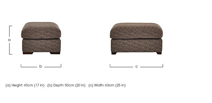 Bailey Fabric Footstool in  on Furniture Village