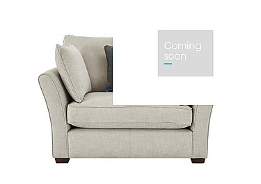 Healey Fabric Snuggler Armchair in Heatley Ivory Dark Feet Col 3 on Furniture Village