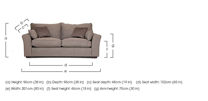 Remus 3 Seater Fabric Sofa in  on Furniture Village