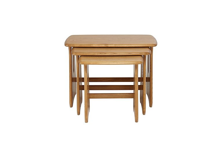 Windsor Nest of Tables in Straw Finish (St) on Furniture Village