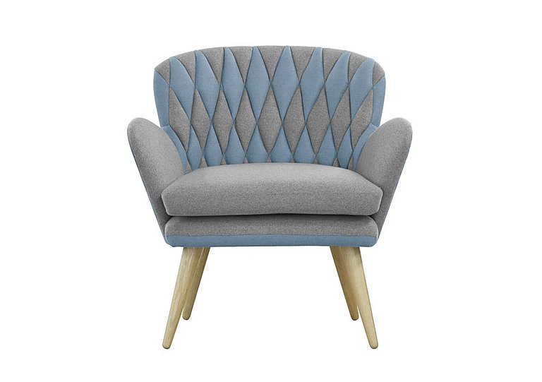 Freja Fabric Armchair in 311 581 Grey And Pigeon Blue on Furniture Village