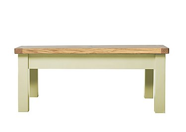 Bordeaux Painted Oak Bench in Natural Monocoats on Furniture Village