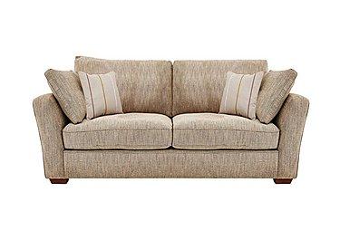 Otto 3 Seater Fabric Sofa in Earl Slate Dark Feet Col 3 on Furniture Village