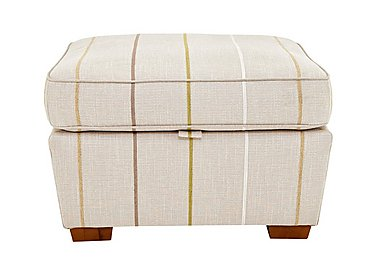 Otto Fabric Storage Footstool in Selba Citrine Dark Feet Col 3 on Furniture Village