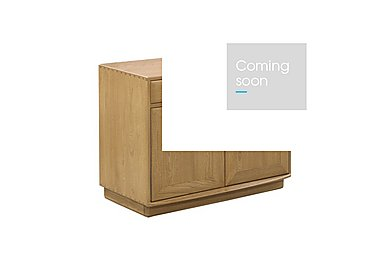 Windsor Wide Cabinet with Drawers in Straw Finish (St) on Furniture Village