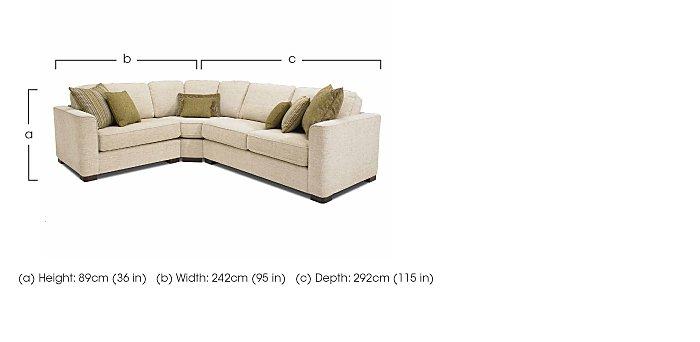 Eleanor Fabric Corner Sofa in  on Furniture Village