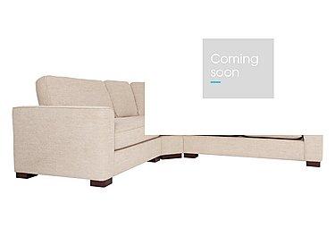 Eleanor Fabric Corner Sofa in Kento Cream - Bf on Furniture Village