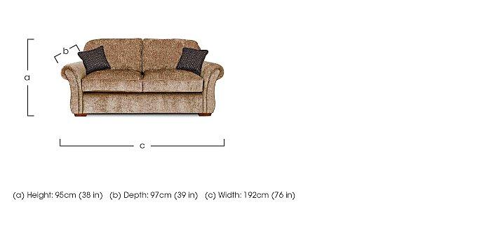 Luxor 2 Seater Fabric Sofa in  on Furniture Village
