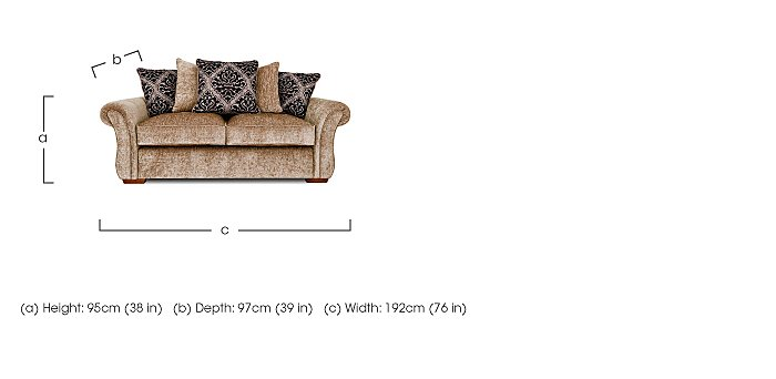 Luxor 2 Seater Fabric Pillow Back Sofa in  on Furniture Village