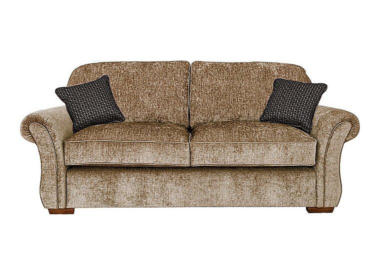 Luxor 3 Seater Fabric Sofa in Elite Mink - Dark Feet on Furniture Village