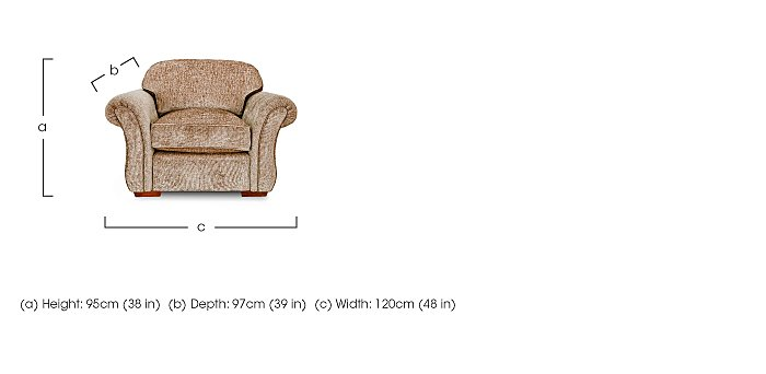 Luxor Fabric Armchair in  on Furniture Village