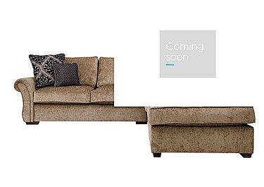 Luxor Fabric Corner Sofa in Elite Mink - Dark Feet on Furniture Village