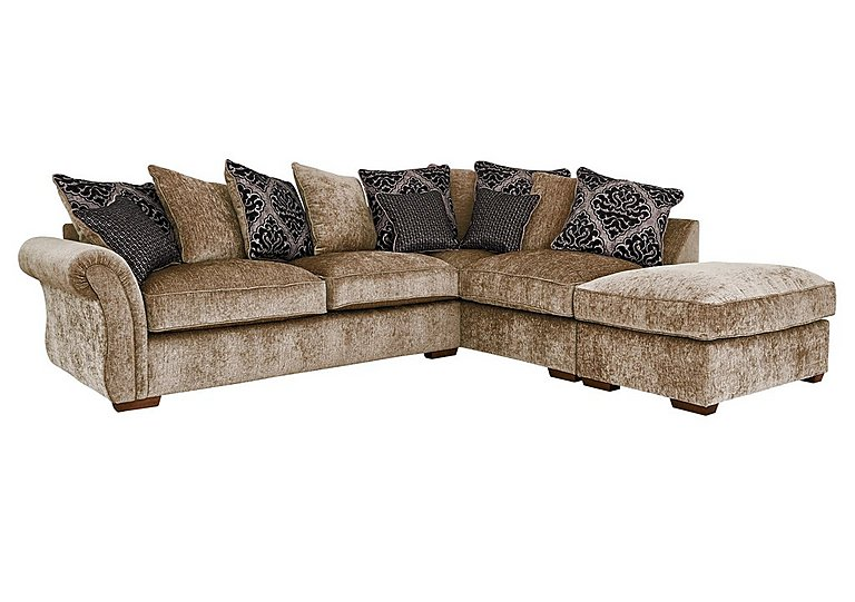 High Quality Luxor Fabric Pillow Back Corner Sofa