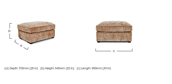 Luxor Fabric Footstool in  on Furniture Village