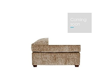 Luxor Fabric Footstool in Elite Mink - Dark Feet on Furniture Village